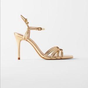 Zara gold heels